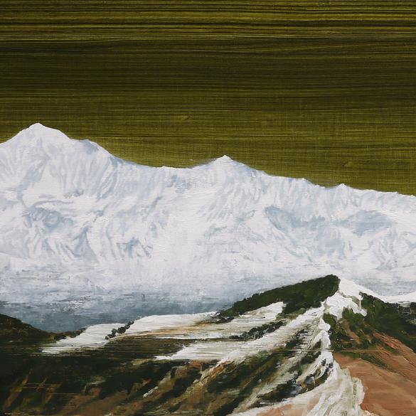 Garhwali Himalayas (after Yoshikazu Shirakawa) (Panels 5 and 6) 2014 10 x 132 inches oil on linen polyptych